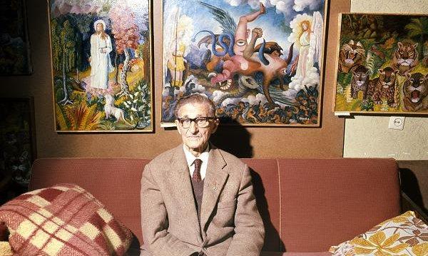 Teofil Ociepka w swoim mieszkaniu w Bydgoszczy, 1977 r. Fot. Janusz Sobolewski/Agencja FORUM