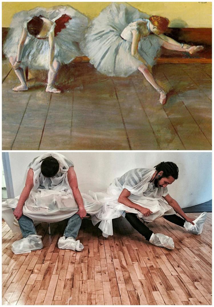"""""""Dwie baletnice"""", Edgar Degas. Fot. http://www.foolsdoart.com/"""