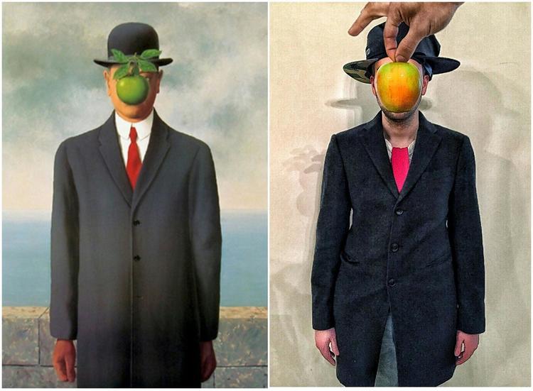 """Syn człowieczy"", Rene Magritte. Fot. http://www.foolsdoart.com/"