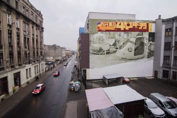 Nowy mural przy ul. Sienkiewicza 71 w Łodzi. Fot. Maciej Stempij, Paweł Nawrocki
