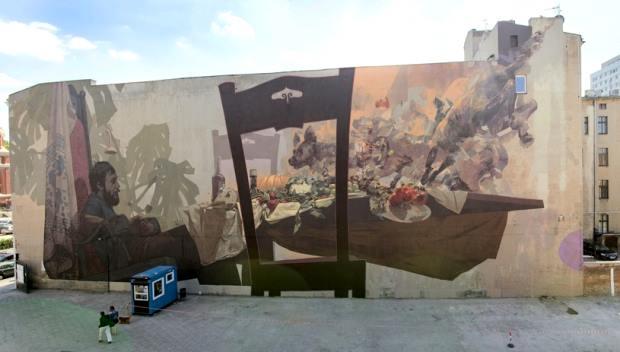 W Łodzi - ramach projektu UNIQA Art Łódź - powstał mural autorstwa Etam Cru (współpraca: Robert Proch)